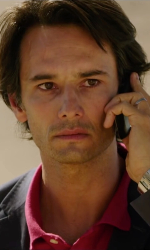 Rodrigo Santoro with Lacoste Cotton Polo Shirt in The 33
