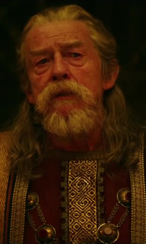 John Hurt with Jany Temime (Costume Designer) Custom Made Lord Cotys Costume (Lord Cotys) in Hercules