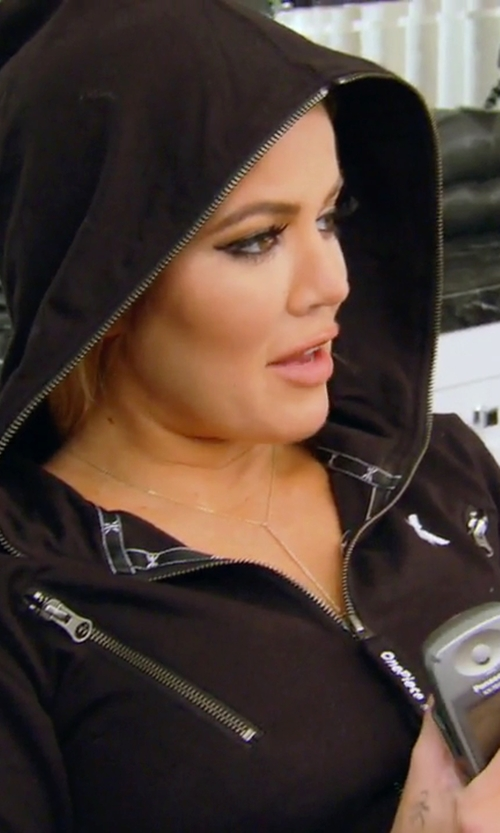 Khloe Kardashian with Y-3 Zipped Hoodie in Keeping Up With The Kardashians