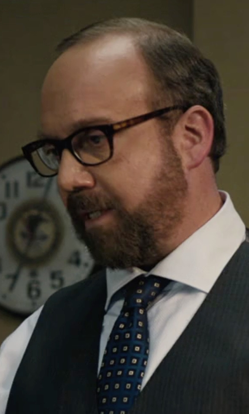 Paul Giamatti with Barton Perreira Byron Universal Fit Square Optical Glasses in Billions