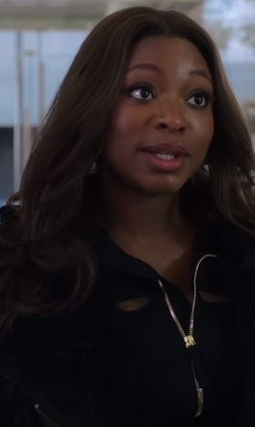 Naturi Naughton with ADD Fur Border Down Coat in Power