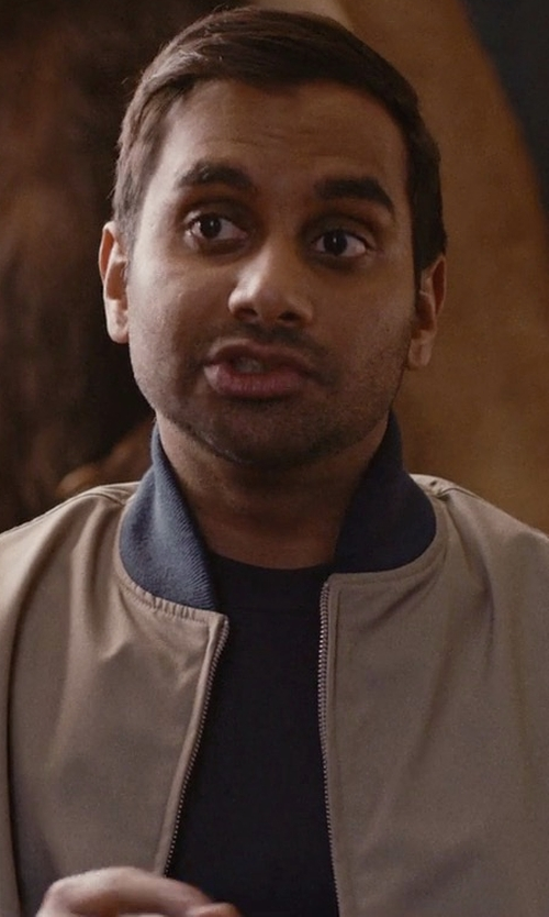 Aziz Ansari with Cole Haan Zerøgrand Bomber Jacket in Master of None