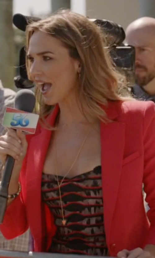 Arielle Kebbel with Gorjana Mika Lariat Necklace in Ballers