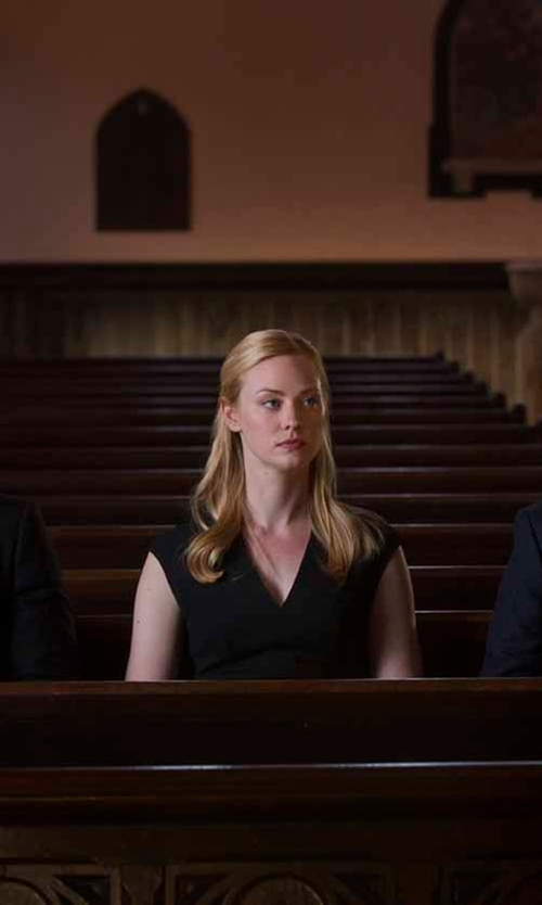 Deborah Ann Woll with Karl Lagerfeld Seamed Sheath Dress in Daredevil