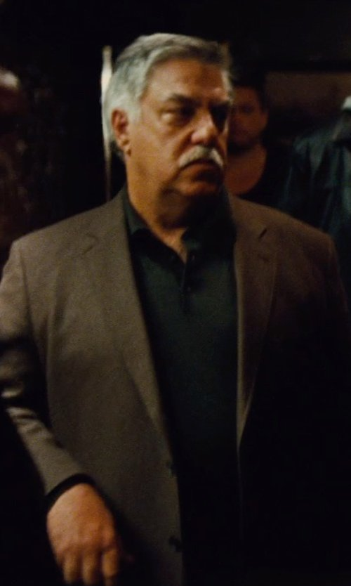 Bruce McGill with Saint Laurent	 Pique Logo Polo in Run All Night