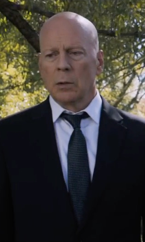 Bruce Willis with Versace Two Piece Suit in Death Wish