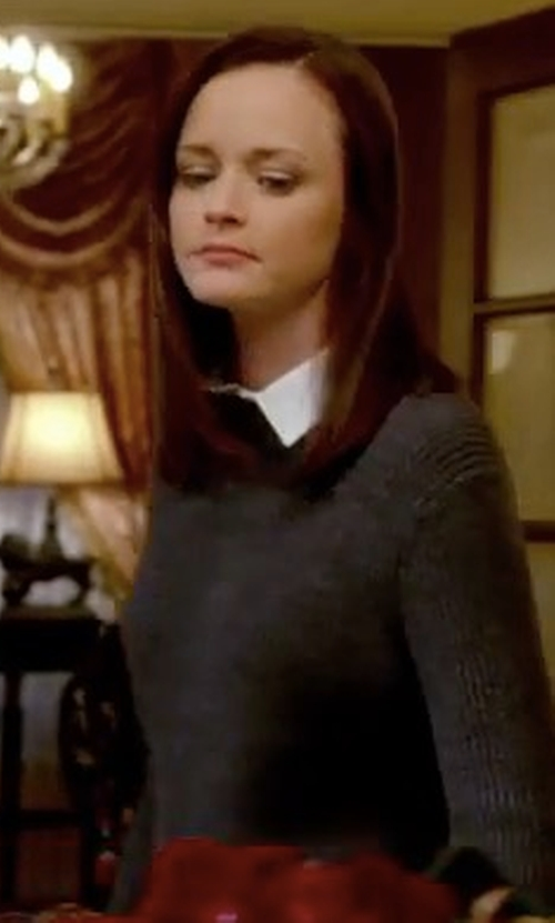 Alexis Bledel with Eileen Fisher Alpaca-Blend Ribbed Box Top in Gilmore Girls: A Year in the Life