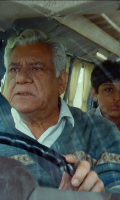 Om Puri with SoulLand Patterned Sweater in The Hundred-Foot Journey