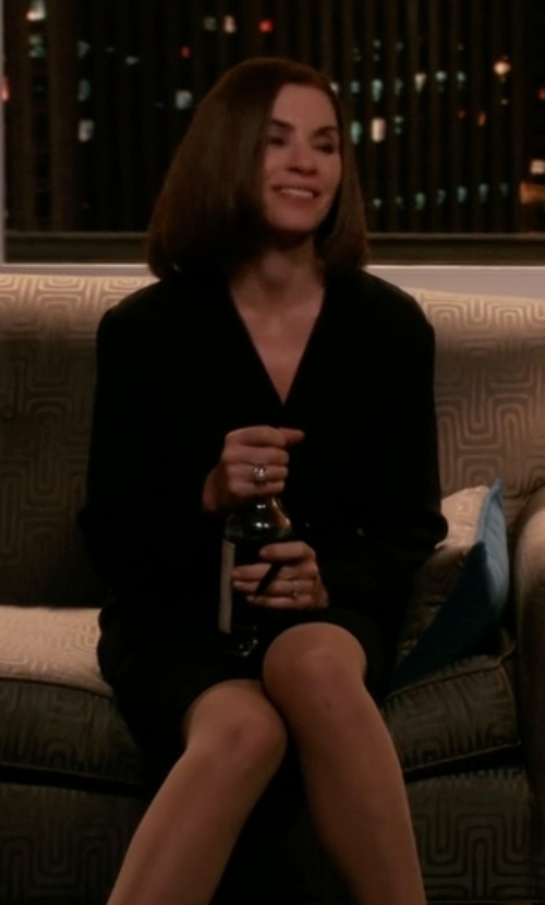 Julianna Margulies with French Connection Lulu Ruched Dress in The Good Wife