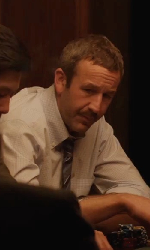 Chris O'Dowd with A.P.C. Sportswear Micro-Checked Cotton Shirt in Molly's Game