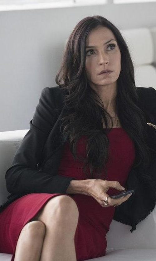 Famke Janssen with Moschino Couture Short Dress in The Blacklist