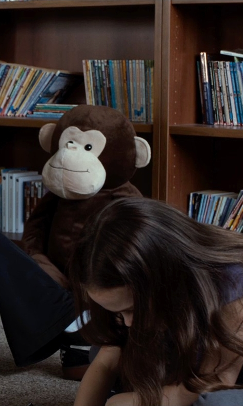 Oona Laurence with Build A Bear Plush Brown Monkey Toy in Southpaw
