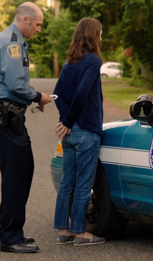 Keira Knightley with TOMS 'Classic' Canvas Slip-On in Laggies