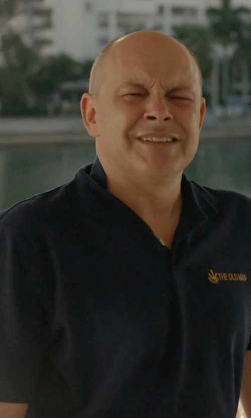 Rob Corddry with Lacoste 'L1212' Piqué Polo Shirt in Ballers