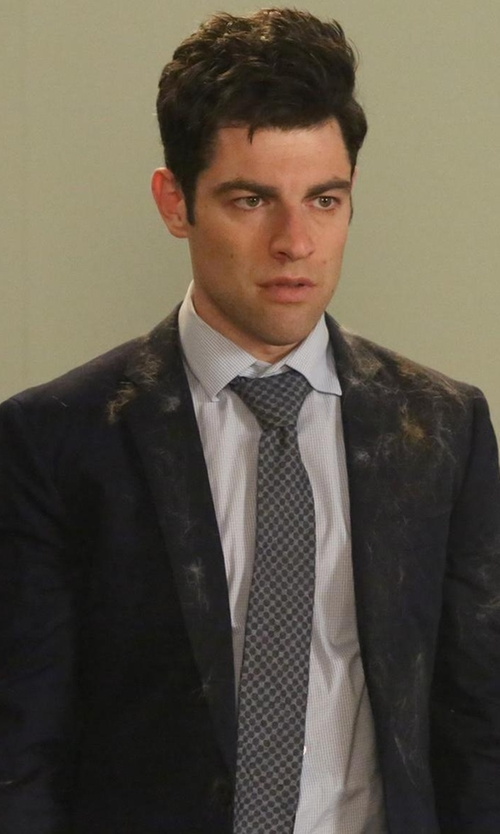 Max Greenfield with Manuel Ritz Slim Fit Extra Fine Wool Suit in New Girl