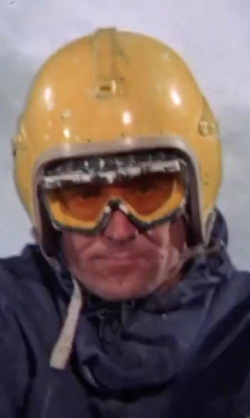 George Lazenby with Billys Biker Gear Open Face Helmet in On Her Majesty's Secret Service