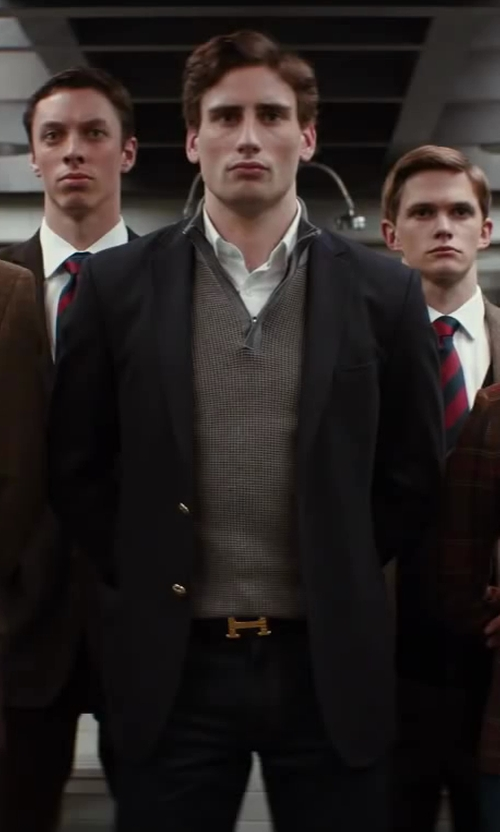 Edward Holcroft with Shades Of Grey By Micah Cohen 2-Button Blazer in Kingsman: The Secret Service