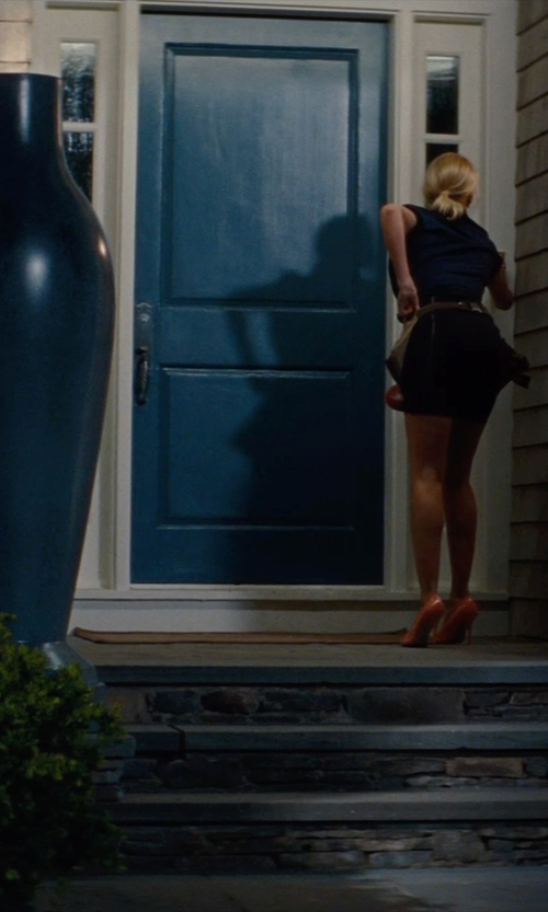 Leslie Mann with Masonite Fiberglass 2 panel square top entry door with two sidelights in The Other Woman