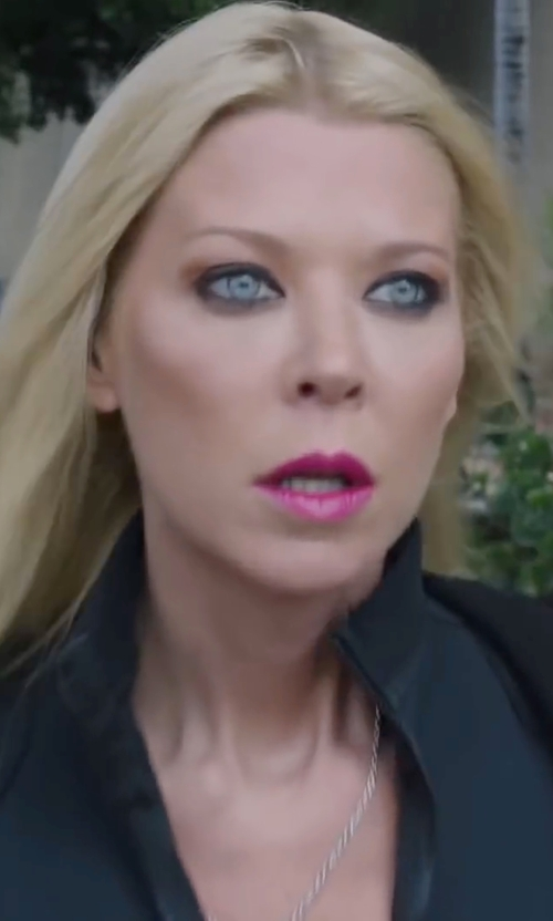 Tara Reid with Calvin Klein Performance Honeycomb Zip-Front Jacket in Sharknado 4: The Fourth Awakens