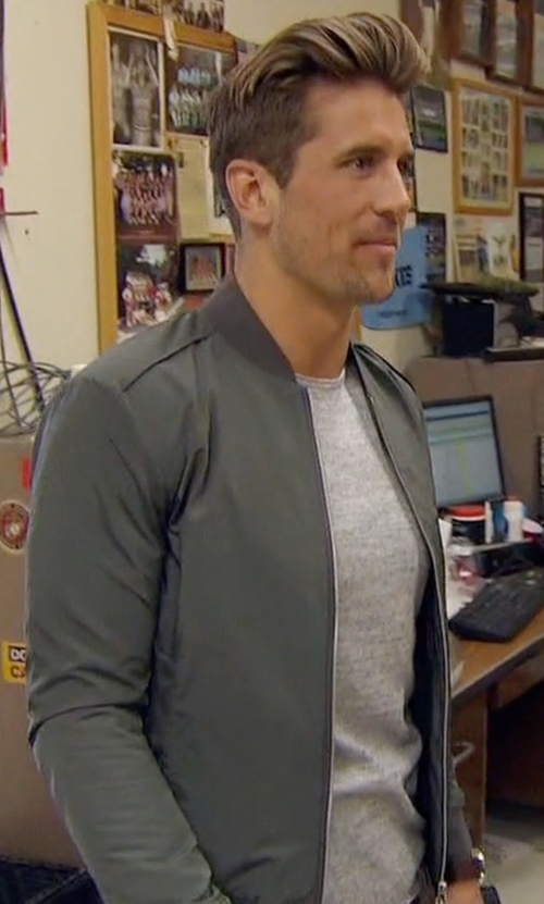 Jordan with Stampd Scalloped Bomber Jacket in The Bachelorette