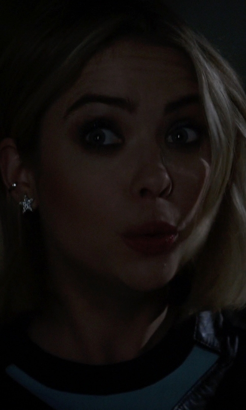 Ashley Benson with Kenneth Jay Lane Pave Crystal Star Clip-On Earrings in Pretty Little Liars