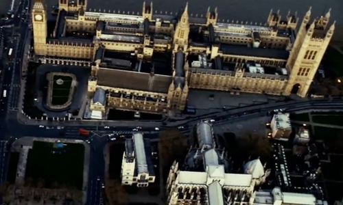 Unknown Actor with Big Ben London, United Kingdom in The Bourne Ultimatum