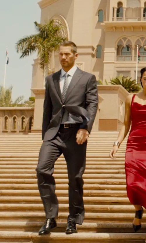 Paul Walker with Ralph Lauren French-Cuff Aston Dress Shirt in Furious 7