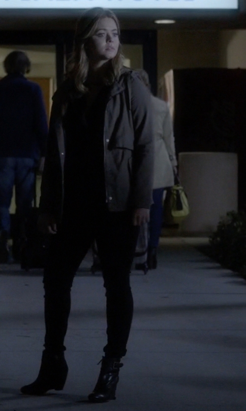 Sasha Pieterse with MM6 by Maison Margiela Ankle Boots in Pretty Little Liars