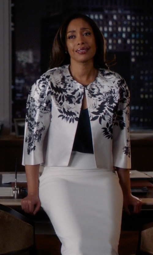 Gina Torres with Topshop Hang Loose Tank Top in Suits