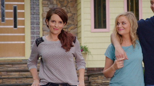 Tina Fey with Yumi Polka Dot Jumper in Sisters