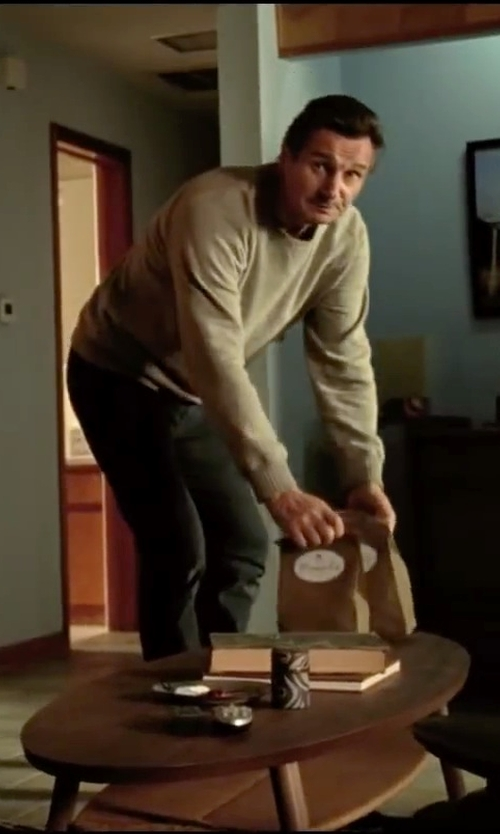 Liam Neeson with Acne Studios College Sweatshirt in Taken 3
