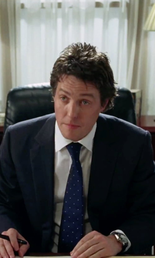 Hugh Grant with Hugo Boss Ambassador Watch in Love Actually