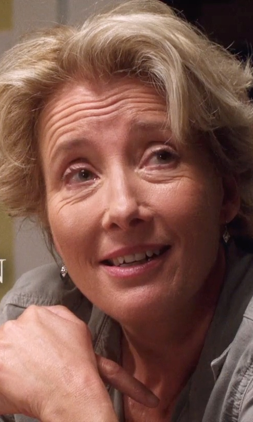 Emma Thompson with Tiffany & Co. Lucida Wedding Band in A Walk in the Woods