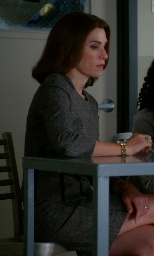 Julianna Margulies with Michael Kors Tweed Pencil Skirt in The Good Wife