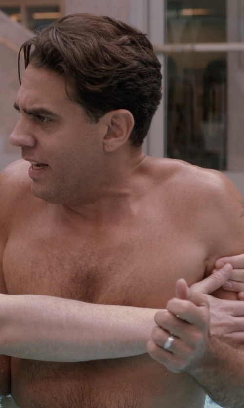 Bobby Cannavale with The Men's Jewelry Store 14k White Gold Milgrain Half Dome Ring in Adult Beginners
