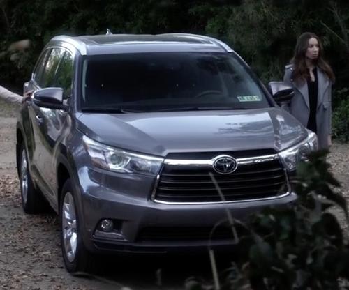 Troian Bellisario with Toyota Highlander Hybrid SUV in Pretty Little Liars