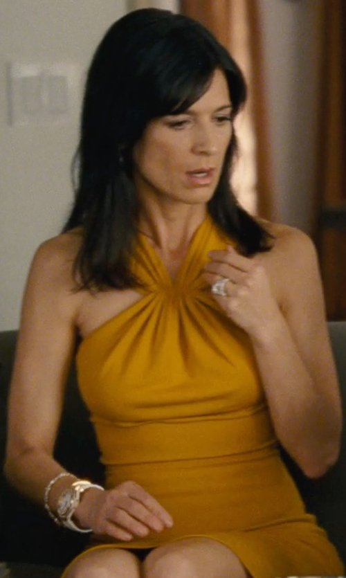 Perrey Reeves with Versace Ion-Plated Mother-Of-Pearl Watch in Entourage