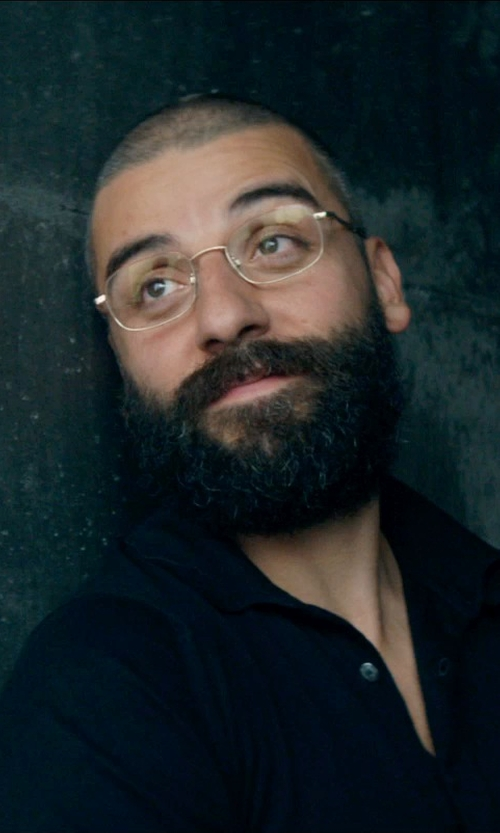 Oscar Isaac with Dunhill Silver Matte Unisex Eyeglasses in Ex Machina