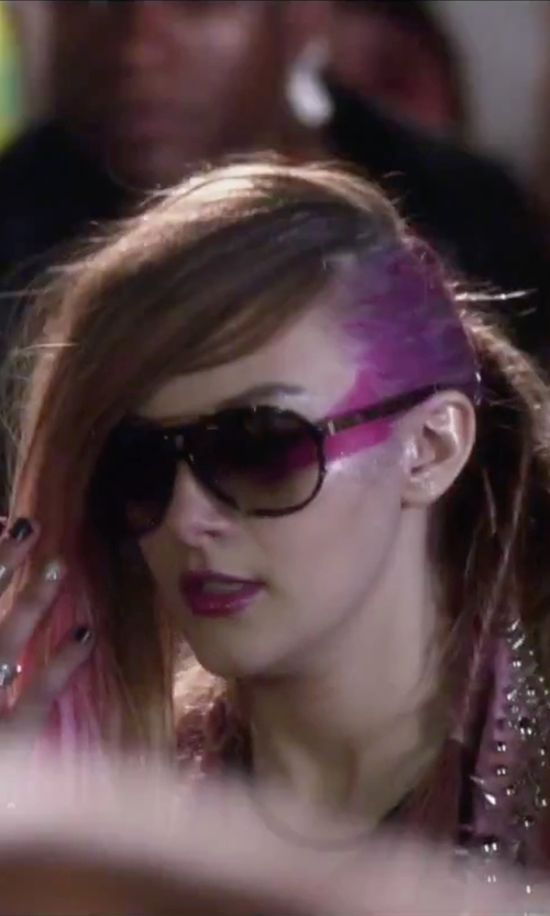 Aubrey Peeples with Wildfox 'Baroness' Aviator Sunglasses in Jem and the Holograms