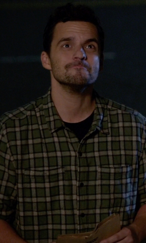 Jake Johnson with Luigi Borrelli Napoli Button Down Shirt in New Girl