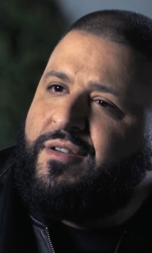 D.J. Khaled with Produkt Faux Leather Bomber Jacket in Popstar: Never Stop Never Stopping