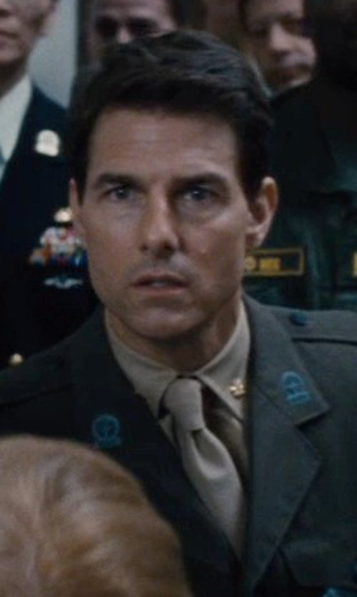 Tom Cruise with Jos. A. Bank Solid Tie in Edge of Tomorrow