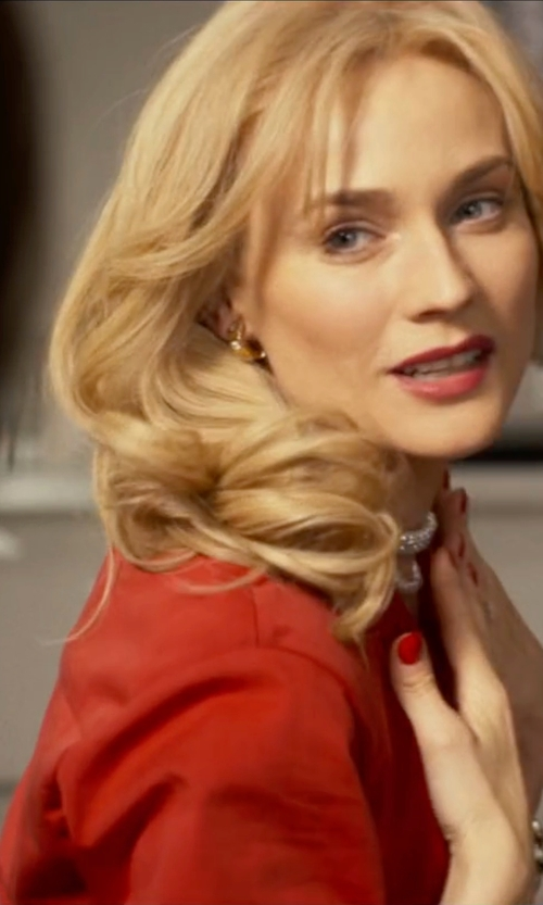 Diane Kruger with Velvet V-Neck Blouse in The Infiltrator