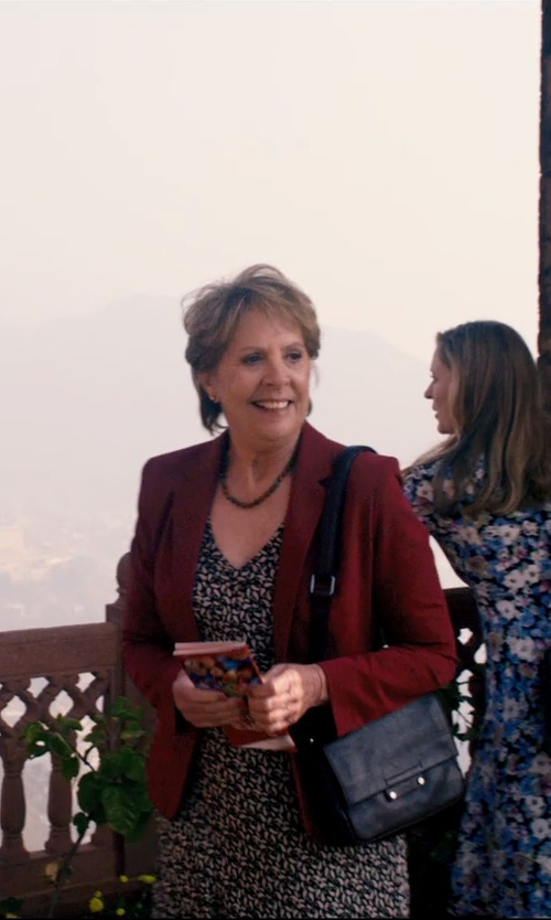 Penelope Wilton with Fine Jewelry Necklace Purple Sapphire Bead Necklace in The Second Best Exotic Marigold Hotel