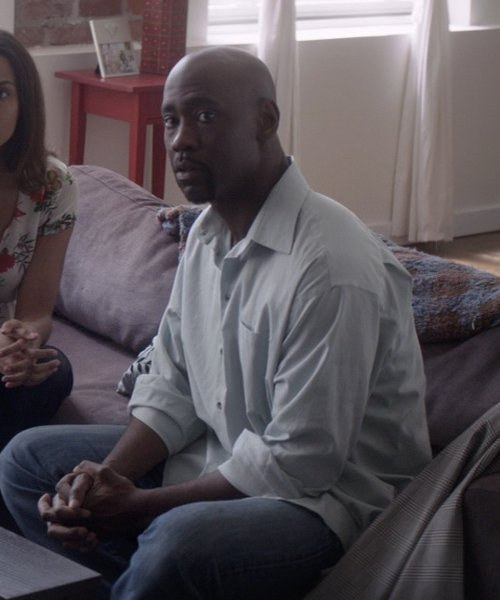 D.B. Woodside with Levi's Made & Crafted One Pocket Shirt in That Awkward Moment