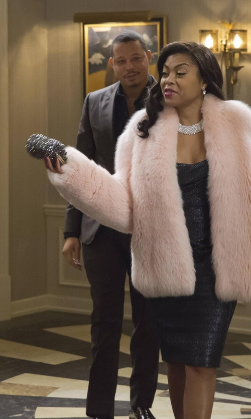 Taraji P. Henson with Alexander McQueen Glitter Clutch Bag in Empire