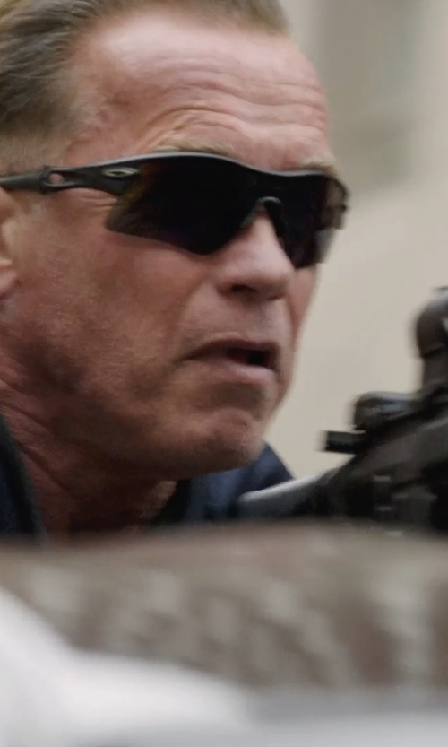 Arnold Schwarzenegger with Oakley SI Radar Range Sunglasses in Sabotage