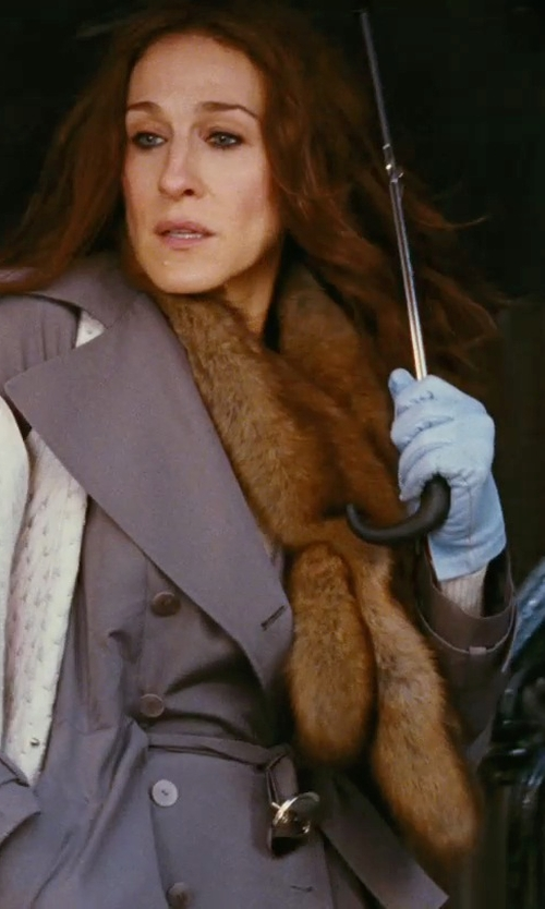 Sarah Jessica Parker with Valentino Brown Fur Scarf in Sex and the City