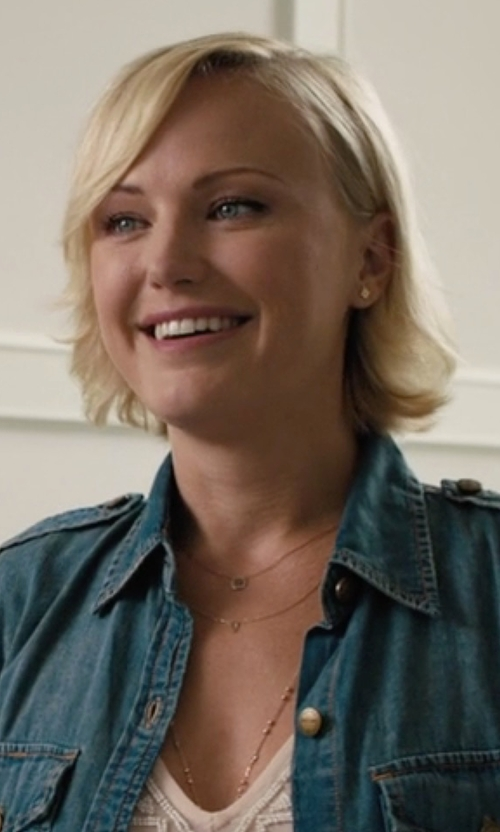 Malin Akerman with Vale Jewelry Tapered Sapphire Necklace in Billions