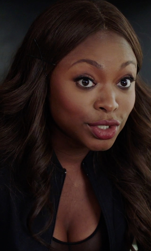 Naturi Naughton with Koral Activewear Boxer Bomber Track Jacket in Power